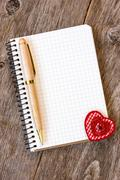 Stock Photo of notebook with decorative heart