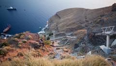 köysiradan Fira, Santorini kreikka - stock photo