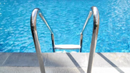 Stock Video Footage of swimming pool stairs