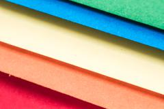 colorful handicraft papers - stock photo