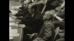 1955 - 10 years UN - 03 - US - Speech Stock Footage