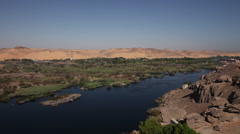 The Nile near Aswan, Egypt Stock Footage