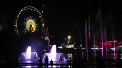 Turkey Antalya park sound & light show Stock Footage