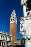 Italy, venice. st. mark's square and campanile Stock Photos
