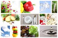 Stock Photo of mix the foods and fruit picture for health.
