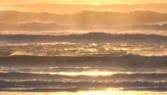 Sunset Waves Rack Focus Stock Footage
