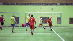 Amateur Football Players Are Practicing At A Artificial Field Stock Footage