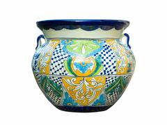 Stock Photo of mexican talavera pot