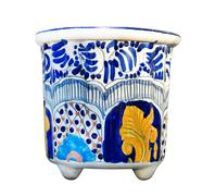Stock Photo of mexican talavera pot isolated on white