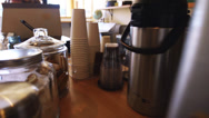 Stock Video Footage of Coffee is served - dolly shot