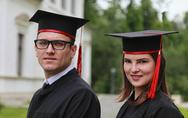 Stock Photo of Portrait of a Couple in the Graduation Day