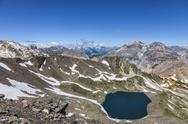 Stock Photo of Lac bBlanc from Vallee de la Claree, France