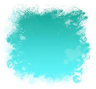 Stock Illustration of aqua grunge paint smear background