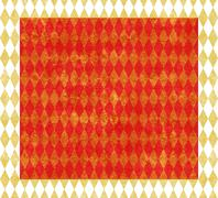 Stock Illustration of red and gold harlequin background