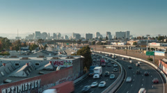 Oakland California City Skyline Time-Lapse Stock Footage