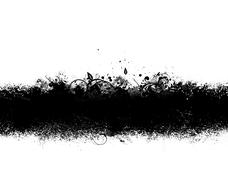 black grunge banner - stock illustration