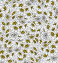 Stock Illustration of daisies background ink drawing