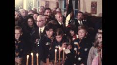 1958 - 1963 - Cardinal Slipyj & Bishop Platon Kornylak Stock Footage