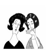 Gossip - stock illustration