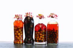 Cherry liqueur. Stock Photos