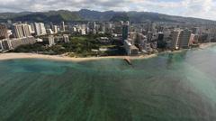 Aerial Shot Hawaii Stock Footage