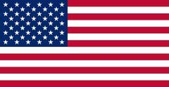 American USA Flag Real Värit ja mittasuhteet vektori kuva Piirros