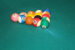 Billiards balls Stock Photos