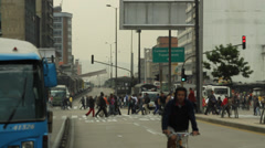 Afternoon traffic Bogota Colombia 1037 Stock Footage