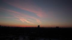 City sunset timelapse. Stock Footage