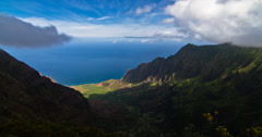 4k Clouds Timelapse, Waimea Canyon, Kauai, Hawaii Stock Footage