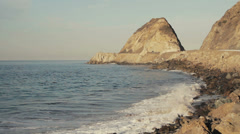 Point Mugu Rock Stock Footage