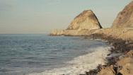 Stock Video Footage of Point Mugu Rock
