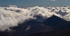 4K Dramatic Clouds Timelapse on Haleakala Volcano, Hawaii Stock Footage