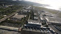 Aerial Shot Honolulu International Airport Stock Footage
