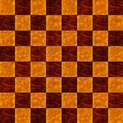 Inlaid wood checkerboard floor, seamless pattern Stock Illustration