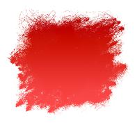 Stock Illustration of red grunge paint smear background