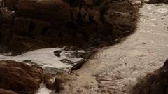 Waves crashing against the rocks 08 Stock Footage