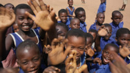 Stock Video Footage of School children hailing out of the school in Ghana, greater Accra region.