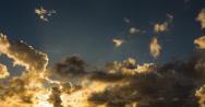 4K Epic golden sunset timelapse (4096) Stock Footage