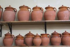 clay pottery ceramics typical of bailén, jaen province, andalucia, spain - stock photo