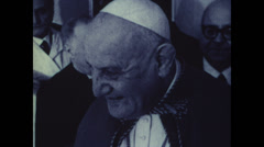 1958 - 1963 - Pope John XXIII - 06 - Close to the people 02 Stock Footage