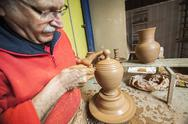 Stock Photo of clay pottery ceramics typical of bailén, jaen province, andalucia, spain