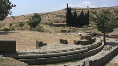 Turkey Asklepion ruins, landscape Stock Footage