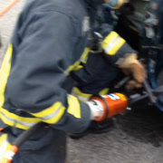 Firefighter Jaws Of Life Stock Footage