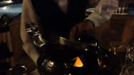 Stock Video Footage of Cabo Resort Flaming Bartender