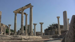Turkey Ephesus Basilica of St John columns Stock Footage