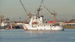USCGC Steadfast (WMEC-623) Stock Footage