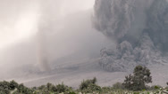 Stock Video Footage of HD Amazing Pyroclastic Flow Volcanic Eruption Tornado Dust Devil