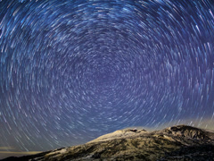Stars leave traces. Time Lapse. 4x3 - stock footage