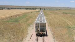 Train from Above 25s Stock Footage